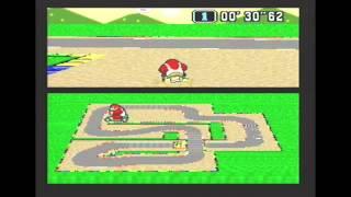 "Super Mario Kart (PAL) Time Trial : Mario Circuit 2 (MC2) - 1'07""85 NBT (World Record)"