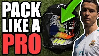 How to Pack Like A Pro! Professional Footballer's Kitbag
