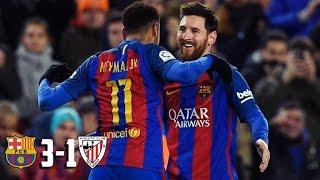 Barcelona 3 x 1 Athletic Bilbao - GOLS - Copa do Rei 2017 11/01/17