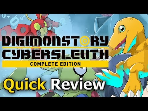 Digimon Story Cyber Sleuth: Complete Edition (Quick Review) video thumbnail