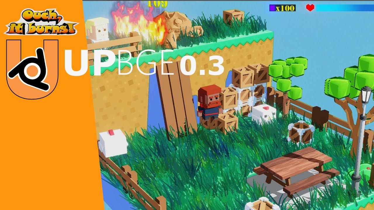 UPBGE 0.3 Ouch, it burns! Demo N#4 Blender 2.91(EEVEE).
