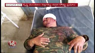 3 Lost Life, 3 Injured In Car Accident At Krishna Mandal | Mahabubnagar | V6 News
