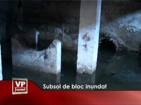 Subsol de bloc, inundat