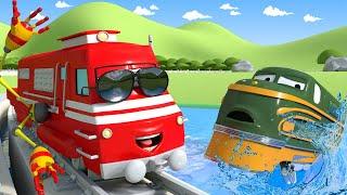 Поезд Трой -  Трой - спасатель! - Автомобильный Город 🚄 детский мультфильм 🚄