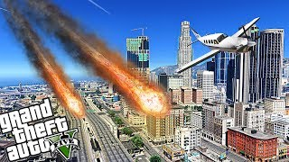 INSANE METEORS DESTROY LOS SANTOS - GTA 5 END OF LOS SANTOS APOCALYPSE MOD - MICHAEL'S FAMILY