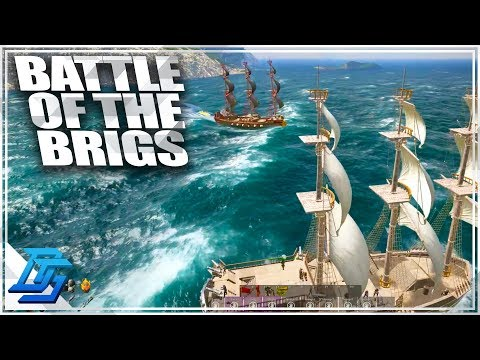 FUN BATTLE OF THE BRIGS, WHO WILL WIN?!?! - Atlas Gameplay - BLACKWOOD DLC -  Part 14