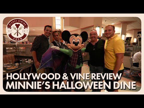 Hollywood & Vine Minnie's Halloween Dine Review | Disney Dining Show | 10/19/18