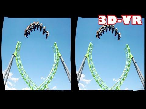 3D Roller Coasters  VR Videos 3D SBS [Google Cardboard VR Experience] VR Box Virtual Reality Video