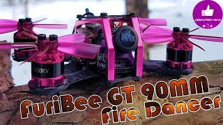 ✔ FPV Микро Квадрокоптер - FuriBee GT 90mm Fire Dancer! Gearbest