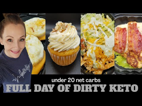 What I Eat In A Day On Keto🍔Extremely Dirty Keto🥗All Fast Food