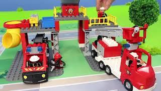 Pelleteuse, camion , truck & grue chantier jouets de construction pour les enfants