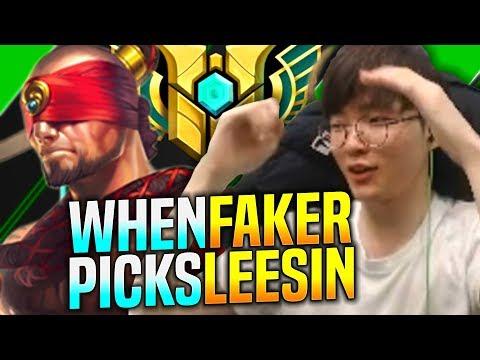 FAKER TRIES SOME LEE SIN MECHANICS! - SKT T1 Faker Plays Lee Sin vs Nidalee Jungle! | Faker SoloQ