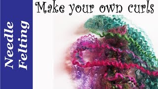 Needle Felting Tutorials. How To Create Fleece Curls