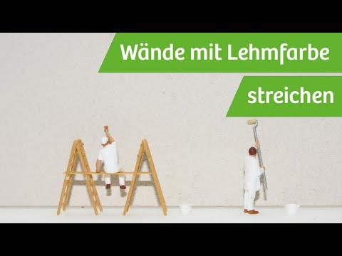 Wand mit Lehmfarbe streichen