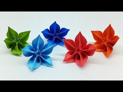 Carambola flower making easy origami tutorial diy paper crafts easy diy paper flowers making tutorial origami carambola flower mightylinksfo