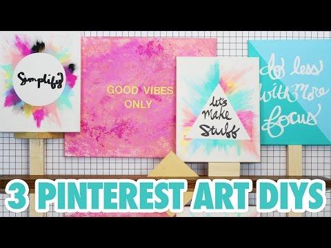 3 Pinterest Art DIYs – HGTV Handmade