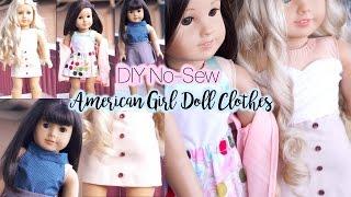 DIY No Sew American Girl Doll Clothes!