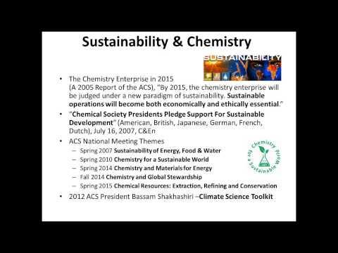 Planificando el futuro de la educación en química verde