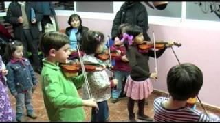 En la clase de violín