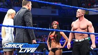 "John Cena and Nikki Bella storm onto ""Miz TV"": SmackDown LIVE, March 28, 2017"