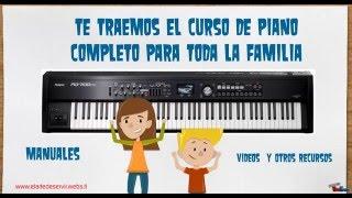 Descarga: Curso completo de piano, Manuales, Vídeos y Recursos Gratis