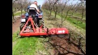 Rotavator / fraise déportable interceps pour verger, plantations d'arbres, vignes, etc