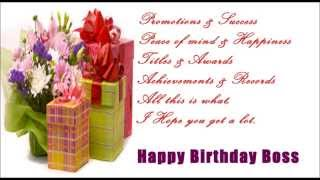 Happy Birthday SMS Message to Boss, Birthday wishes, quotes, greetings for boss's birthday