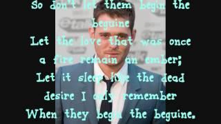 Michael Buble - Begin The Beguine - Lyrics