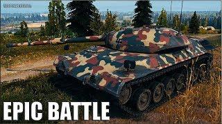 БЕШЕНЫЙ СТАТЮГА ТАЩИТ БОЙ 🌟 World of Tanks Leopard Prototyp A лучший бой