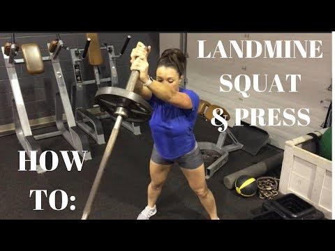 Landmine Squat and Press