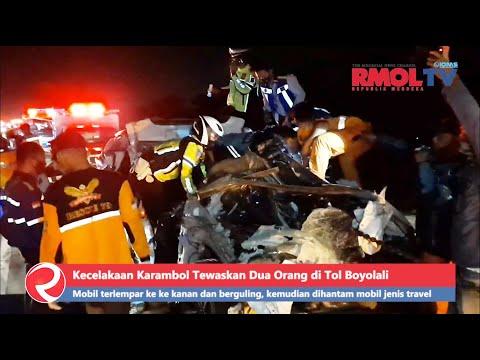 BREAKING NEWS: Kecelakaan Karambol Tewaskan Dua Orang di Tol Boyolali