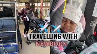 HOW TO TRAVEL WITH A NEWBORN FOR THE FIRST TIME || BABY TRAVEL TIPS  || Bemi.A