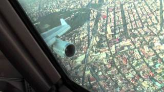 Approach And Landing At Mexico City From Cockpit KLM B747-400