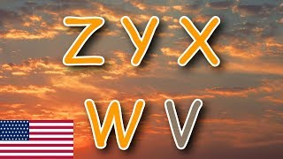 Learn The Alphabet Backwards - Easy ZYX Sing-along Song - USA Version