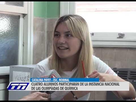 Jóvenes juninenses que se destacan  en las Olimpíadas de Química