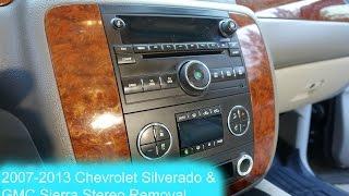 2007-2013 Chevrolet Silverado and GMC Sierra Radio Removal !!!!