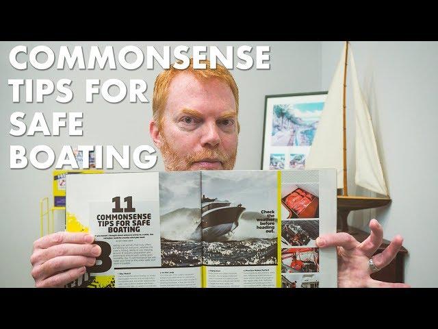 Commonsense Tips for Safe Boating