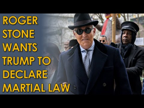 Roger Stone Calls for MARTIAL LAW if Donald Trump loses election