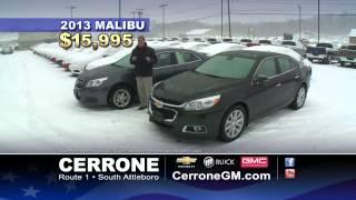CERRONE  SNOW Commercial 2014 2013 Chevrolet Malibu Commercial