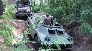 БРДМ 2 УАЗ 469 застрял + ЗИЛ 131 Bergung Rescue