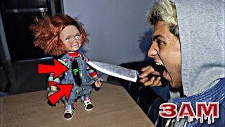 DO NOT CUT OPEN HAUNTED CHUCKY DOLL AT 3AM!! *OMG WHAT