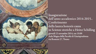 preview picture of video 'Inaugurazione dell'Anno Accademico 2014-2015 - Università degli Studi di Trento'