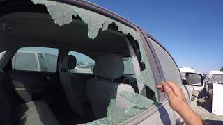 How Thieves Break Your Car Window Quietly with a Center Punch