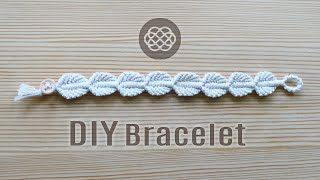 LEAF BRACELET TUTORIAL BY MACRAME SCHOOL
