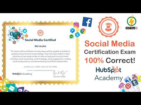 Get Professional Certificate of Social Media   HubSpot   Skillshop ...
