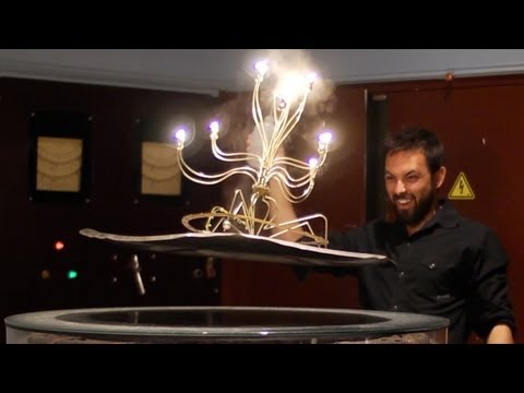 Levitating Wireless Candelabra Makes For An Amazing Centrepiece
