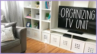 How To Organize Tv Unit - Cable & Cord Management