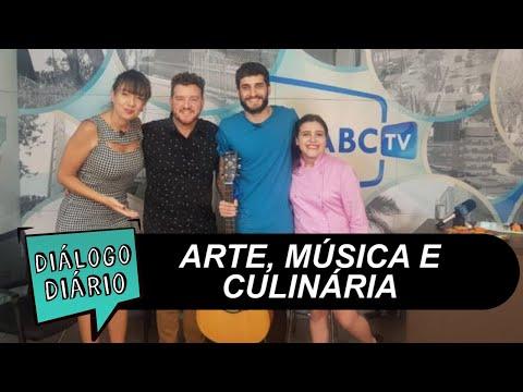 Comediante, cantor e minichef no Diálogo Diário