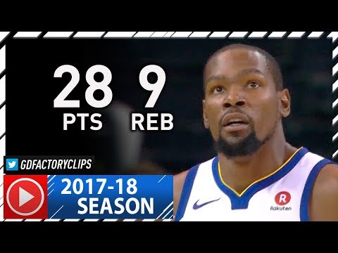 Kevin Durant Full Highlights vs Trail Blazers (2017.12.11) - 28 Pts, 9 Reb, 3 Blks