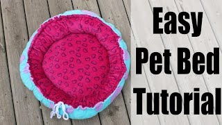 Easy Reversible Pet Bed Sewing Tutorial